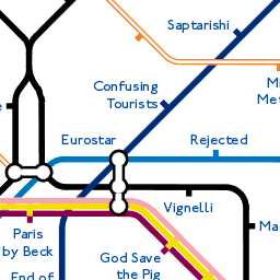 End of the Line: A tube map of tube maps parody map
