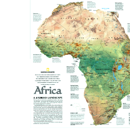 National Geographic Web Maps 2005 Africa Storied Landscape Map