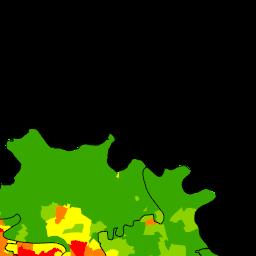 東京の人口密度の変化 1908 10年